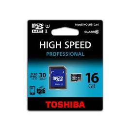 TARJETA MICRO SD TOSHIBA 16GB (CLASS 10)